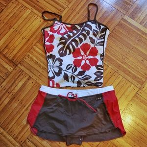 ZeroXposur Tropical Two-Piece Athletic Swimsuit